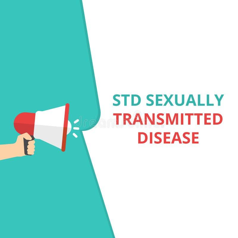 Teksta Std szyldowa pokazuje choroba przenoszona drogą płciową royalty ilustracja
