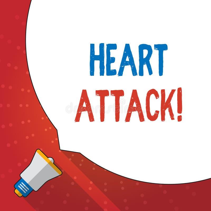 Teksta szyldowy pokazuje atak serca Konceptualnej fotografii nagły występowanie wieńcowy zakrzepica wynikający w śmiertelnym Ogro royalty ilustracja