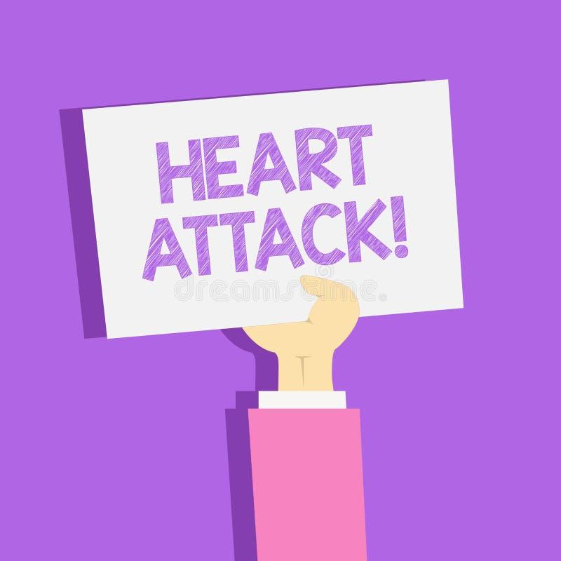 Teksta szyldowy pokazuje atak serca Konceptualnej fotografii nagły występowanie wieńcowy zakrzepica wynikający w śmiertelnym Clip ilustracja wektor