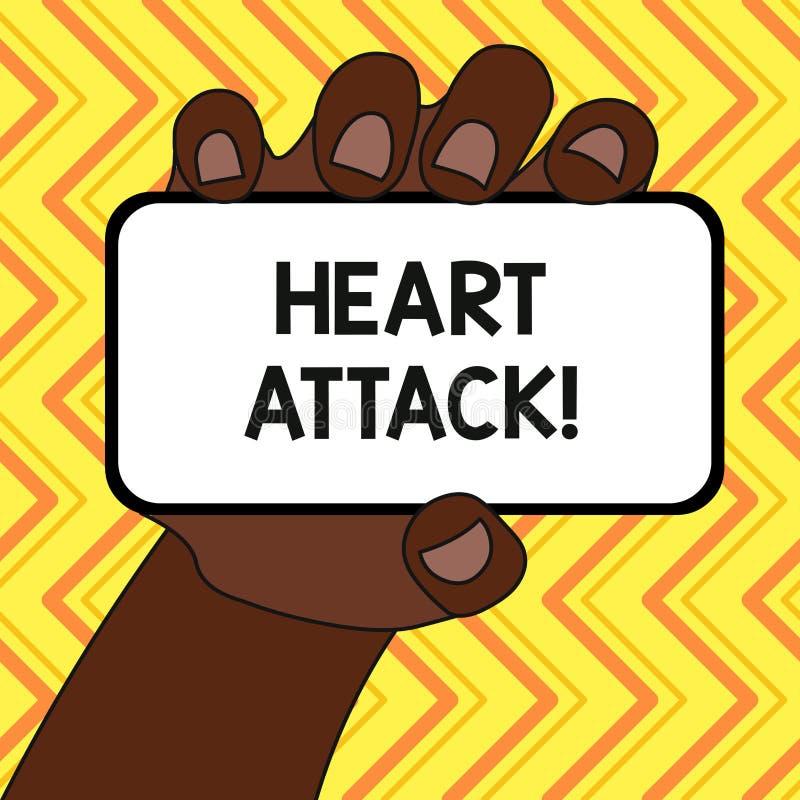 Teksta szyldowy pokazuje atak serca Konceptualnej fotografii nagły występowanie wieńcowy zakrzepica wynikający w śmiertelnym zbli ilustracja wektor
