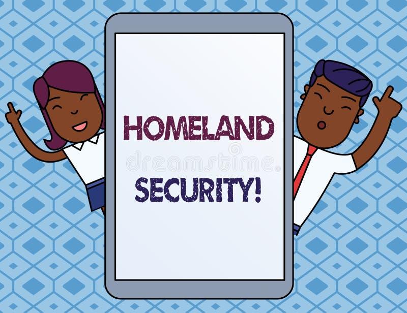 Teksta szyldowy pokazuje departament bezpieczeństwa krajowego Konceptualny fotografia urząd federalny projektujący ochraniać usa  ilustracji