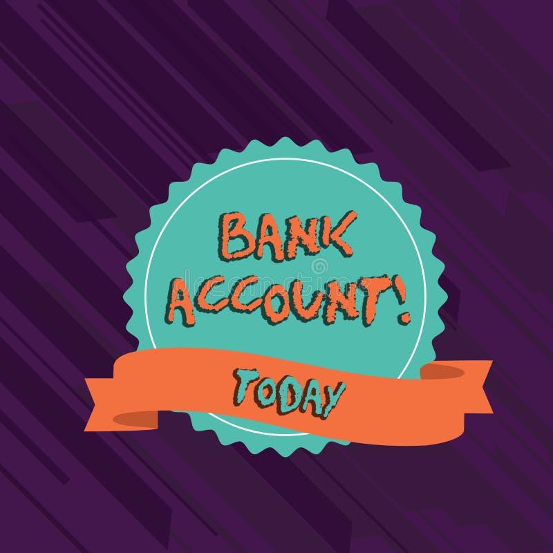Teksta szyldowy pokazuje konto bankowe Konceptualna fotografia Reprezentuje fundusze który powierzał banka puste miejsce klient royalty ilustracja