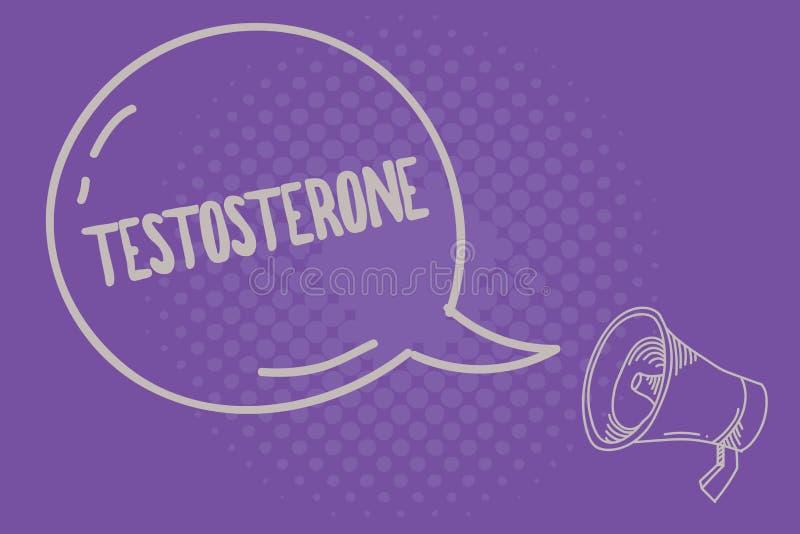 Teksta szyldowy pokazuje testosteron Konceptualny fotografia hormonu rozwój męskie drugorzędne plciowe właściwości ilustracja wektor