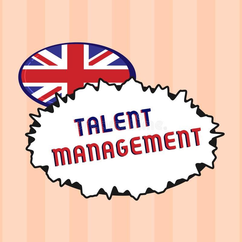 Teksta talentu szyldowy pokazuje zarządzanie Konceptualny fotografii nabywanie zatrudnia utalentowanych pracowników i utrzymuje ilustracja wektor