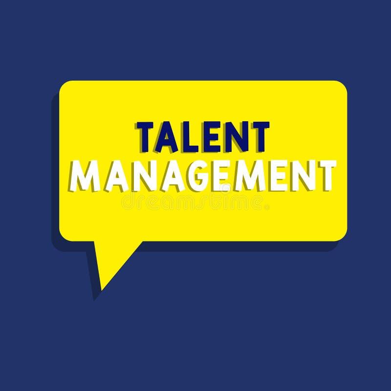 Teksta talentu szyldowy pokazuje zarządzanie Konceptualny fotografii nabywanie zatrudnia utalentowanych pracowników i utrzymuje royalty ilustracja