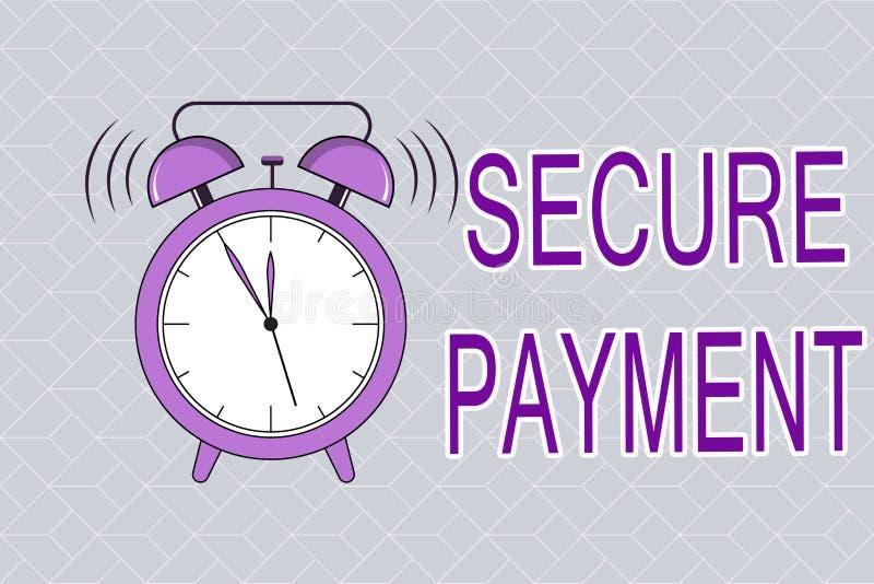 Teksta znak pokazuje Bezpiecznie zapłatę Konceptualna fotografii ochrona zapłata nawiązywać do zapewniać opłacony parzysty, równy ilustracji