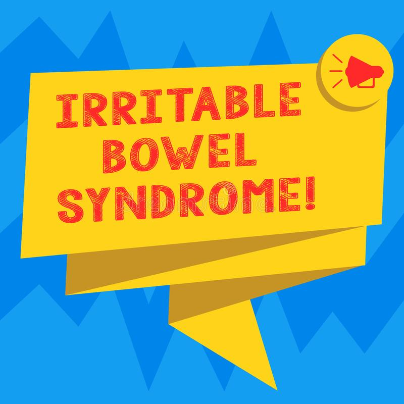 Teksta znak pokazuje Gniewliwej kiszki syndrom Konceptualny fotografia nieład wymaga brzusznego ból i biegunkę Składał 3D faborku ilustracja wektor