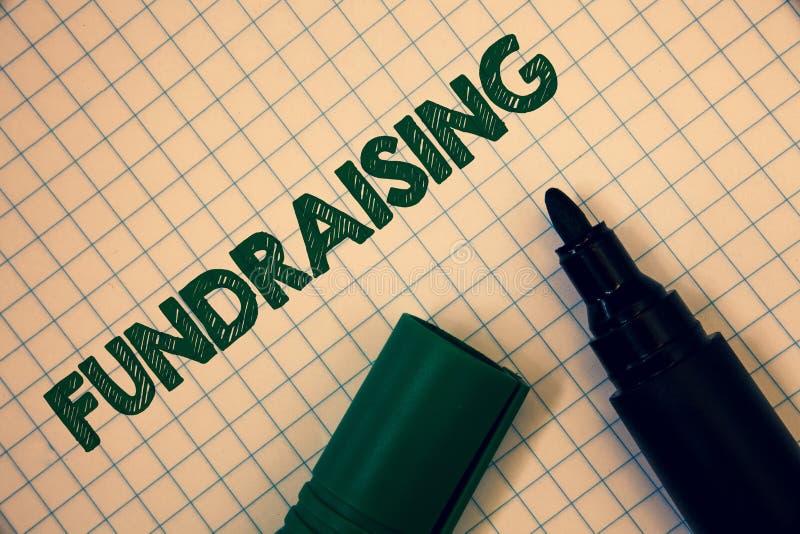 Teksta znak pokazuje Gromadzić fundusze Konceptualny fotografii Szukać wsparcie finansowe dla dobroczynności przyczyny otwarty ma obraz stock