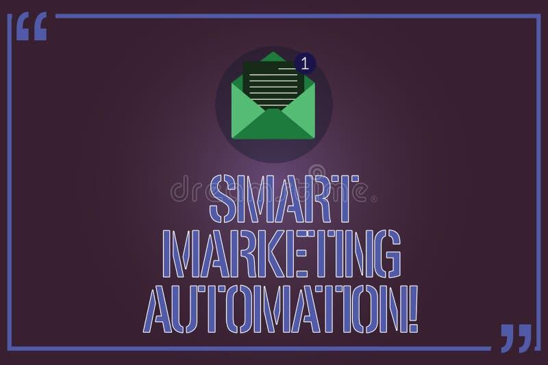 Teksta znak pokazuje Mądrze Marketingową automatyzację Konceptualna fotografia Automatyzuje online kampanie marketingowe i sprzed ilustracji