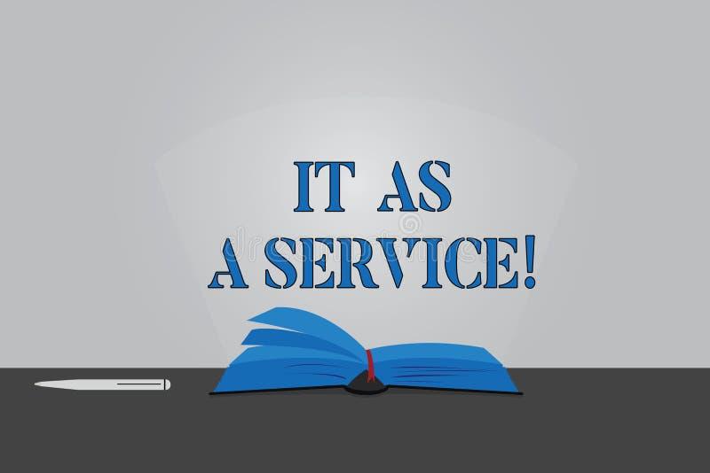 Teksta znak pokazuje Mnie Jako usługa Konceptualna fotografii technologie informacyjne daje usługi biznesowe kolor strony Otwiera ilustracja wektor