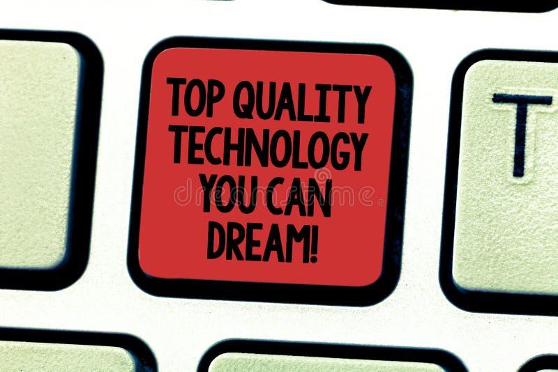 Teksta znak pokazuje Odgórnej ilości technologię Ty Możesz Marzyć Konceptualnych fotografii Dobrze nowożytnych technologicznych c obrazy royalty free