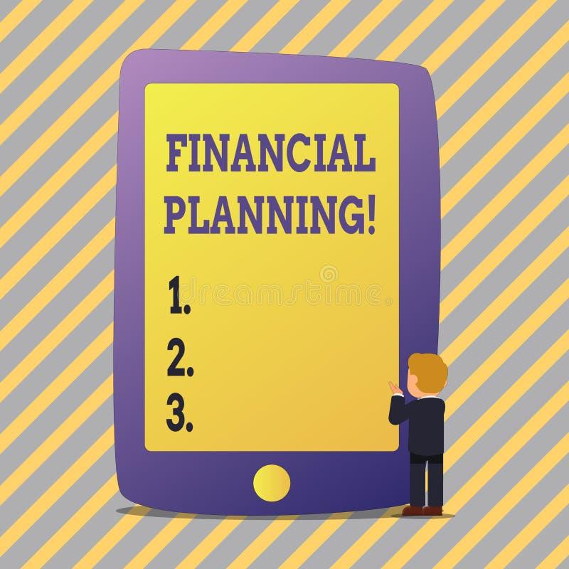 Teksta znak pokazuje Pieniężnego planowanie Konceptualnej fotografii księgowości Planistyczna strategia Analizuje royalty ilustracja