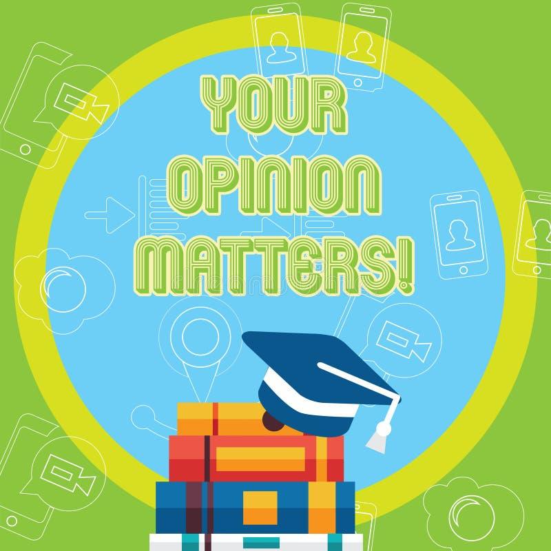 Teksta znak pokazuje Twój opinii sprawy Konceptualni fotografia klienta informacje zwrotne przeglądy są znacząco skalowania nakrę ilustracji