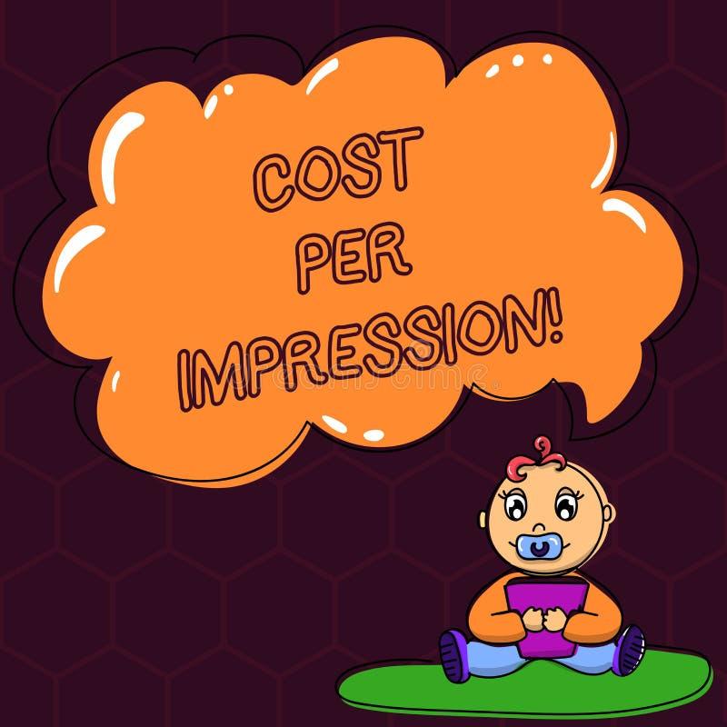 Teksta znaka pokazywać Kosztuję Na wrażenie Konceptualna fotografia nawiązywać do tempo który płacić dla numerowego dziecka ono z ilustracji