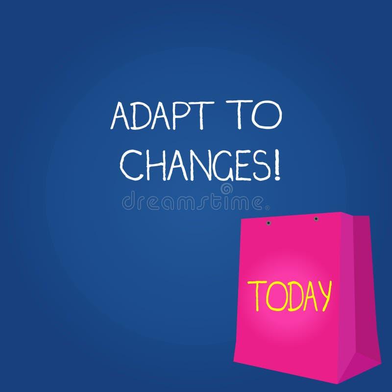 Teksta znaka seans Adaptuje zmiany Konceptualna fotografii zmiana w rozkaz transakcji z nim pomyślnie twój zachowanie koloru prez ilustracja wektor