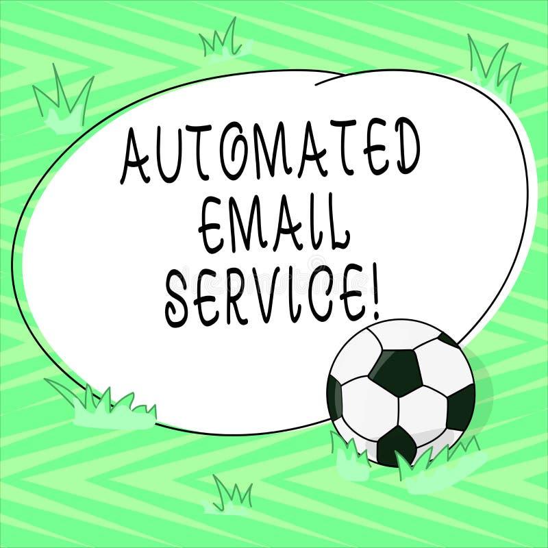 Teksta znaka seans Automatyzująca poczta elektroniczna Konceptualnej fotografii automatyczny podejmowanie decyzji opierający się  royalty ilustracja