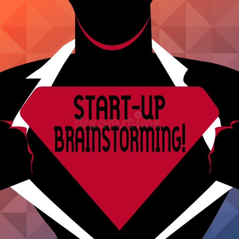 Teksta znaka seans Zaczyna W górę Brainstorming Konceptualna fotografii drużyny praca dla robić strategiom nowy biznes ilustracja wektor