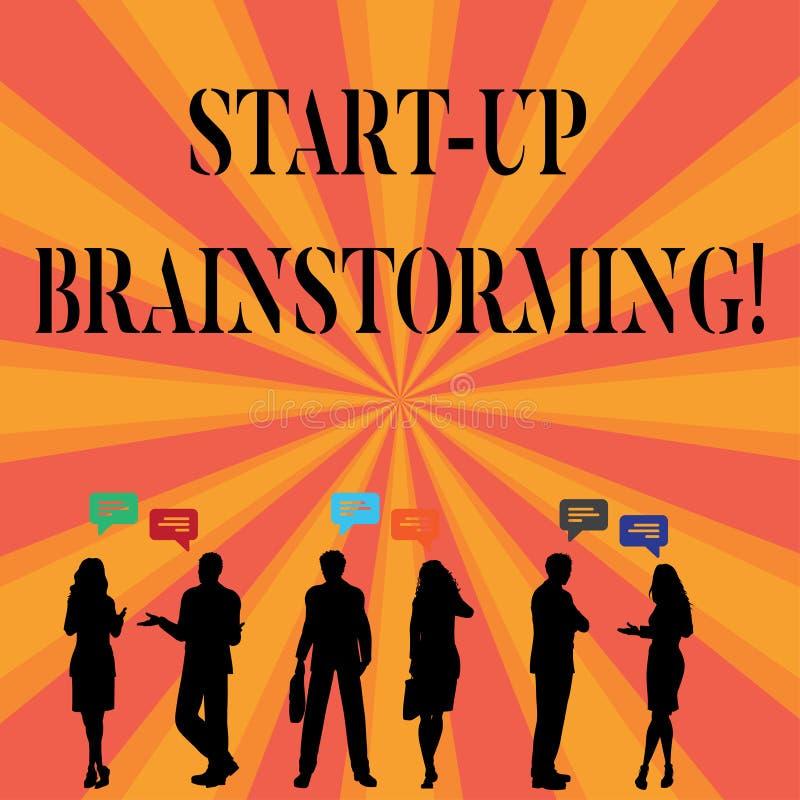 Teksta znaka seans Zaczyna W górę Brainstorming Konceptualna fotografii drużyny praca dla robić strategiom nowy biznes royalty ilustracja