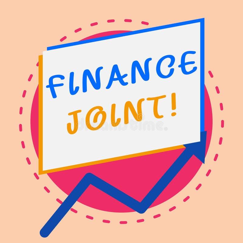 Teksta znaka seansu finanse złącze Konceptualny fotografii zaopatrzenie fundusze dla projekta przychodził od dwa lub więcej źróde ilustracja wektor