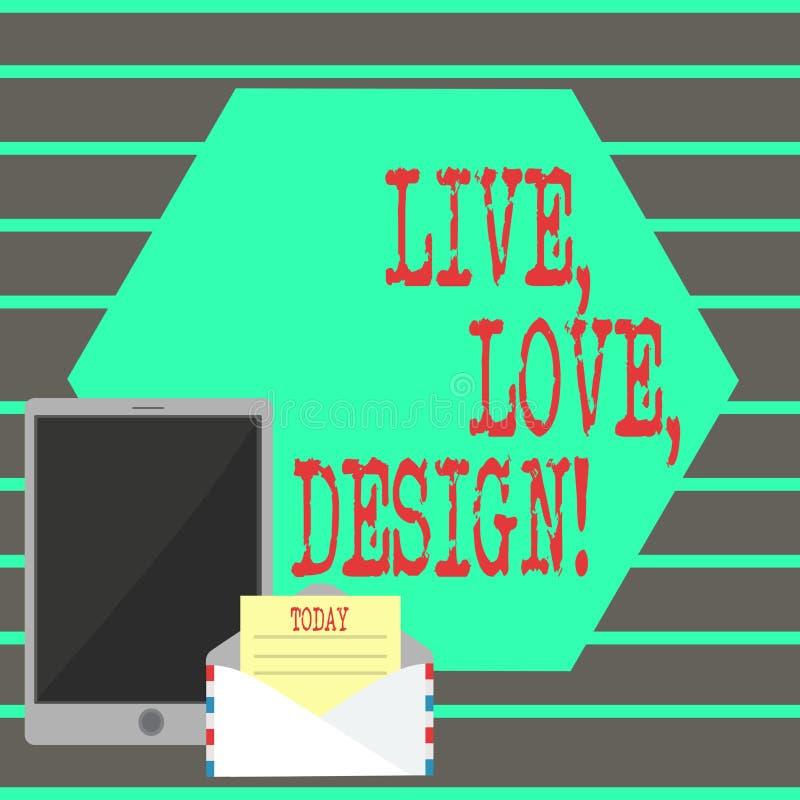 Teksta znaka seansu miłości Żywy projekt Konceptualna fotografia Istnieje czułość Tworzy Pasyjnego pragnienie ilustracji
