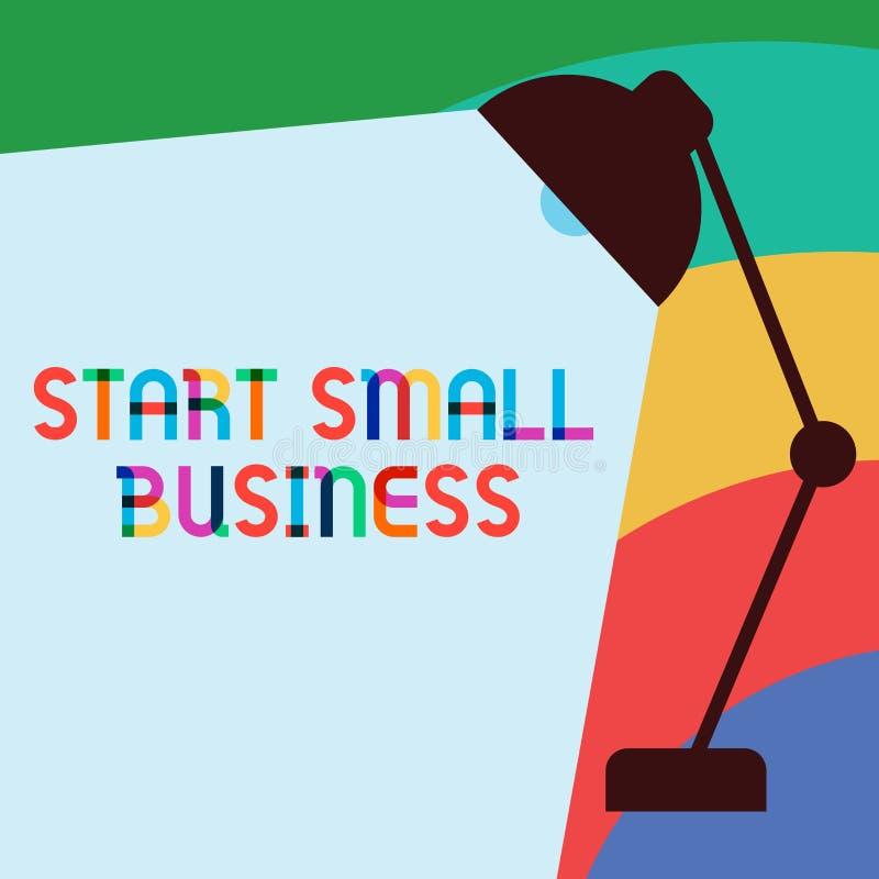 Teksta znaka seansu początku mały biznes Konceptualna fotografia Aspiruje przedsiębiorcy Nowy przedsięwzięcie handlu przemysł ilustracja wektor