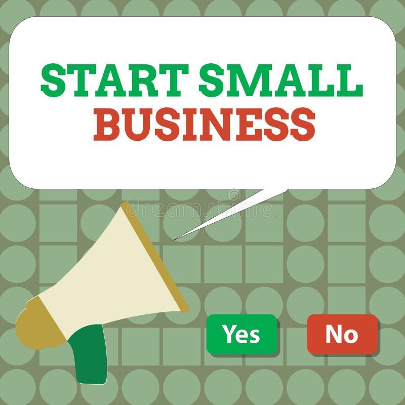 Teksta znaka seansu początku mały biznes Konceptualna fotografia Aspiruje przedsiębiorcy Nowy przedsięwzięcie handlu przemysł ilustracji