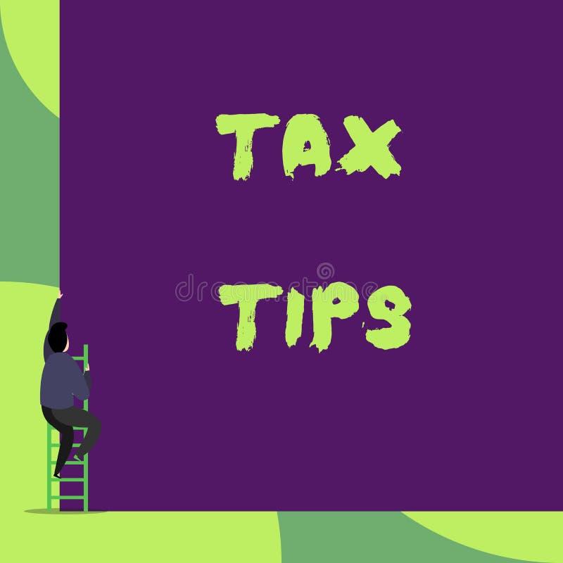 Teksta znaka seansu podatku porady Konceptualnej fotografii obowiązkowy wkład stanu dochód nakładający rzędu plecy widokiem royalty ilustracja