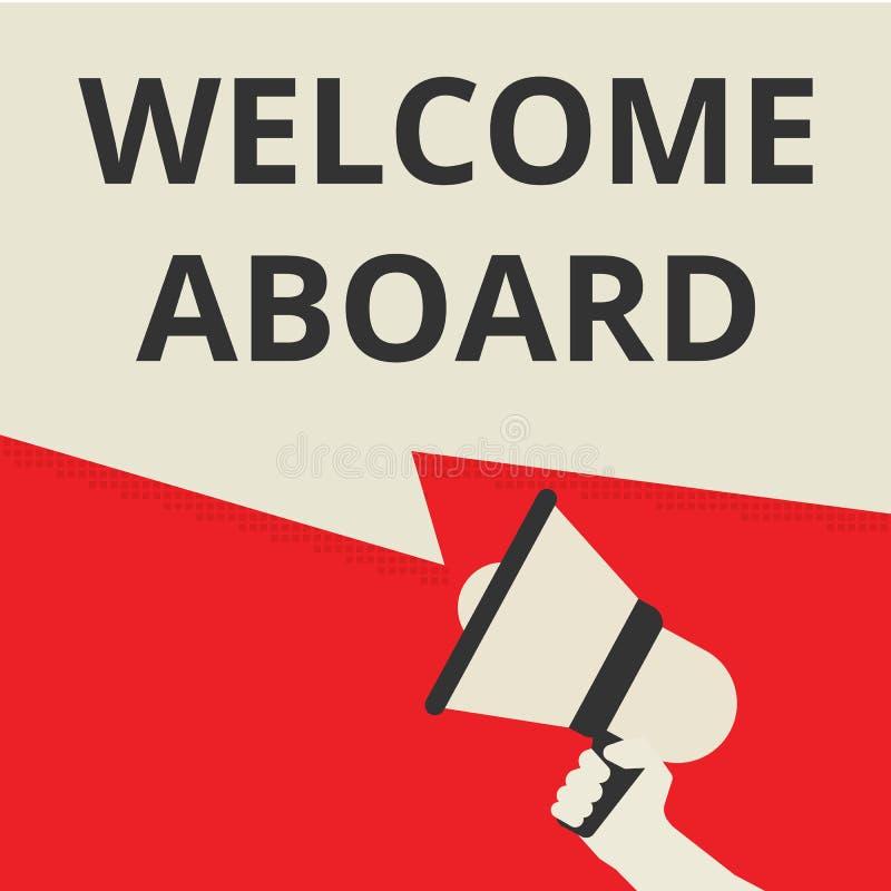 Teksta znaka seansu powitanie Aboard royalty ilustracja