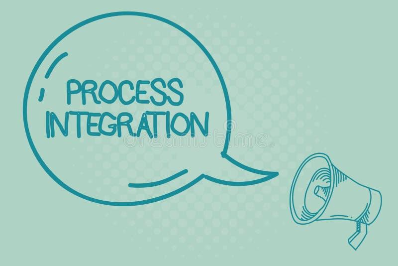 Teksta znaka seansu procesu integracja Konceptualna fotografii łączliwość system informacja i usługa ilustracja wektor