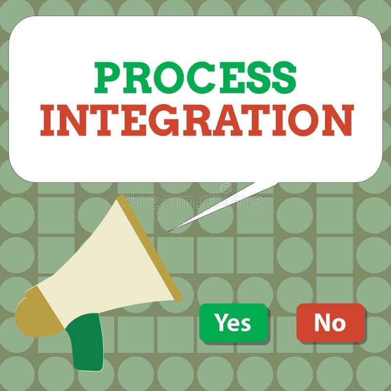 Teksta znaka seansu procesu integracja Konceptualna fotografii łączliwość system informacja i usługa ilustracji