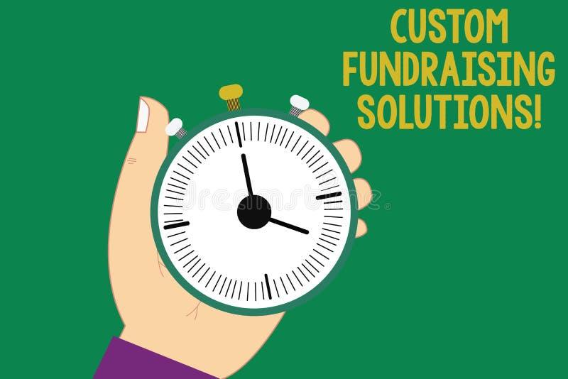 Teksta zwyczaju szyldowi pokazuje Gromadzi fundusze rozwiązania Konceptualny fotografii oprogramowanie pomagać podnosić pieniądze ilustracji