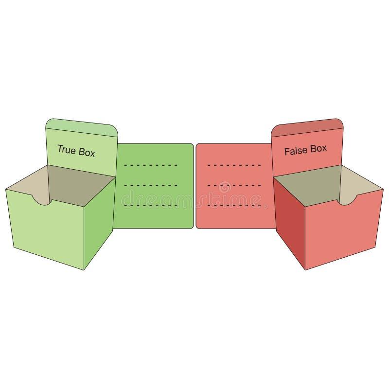 Tekstmalplaatje - vraag of antwoorden stock illustratie