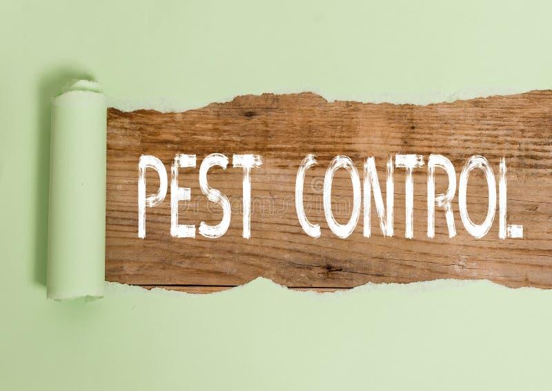 Tekstteken dat Pest Control weergeeft Conceptuele foto destructieve insecten doden die gewassen en vee aanvallen stock foto