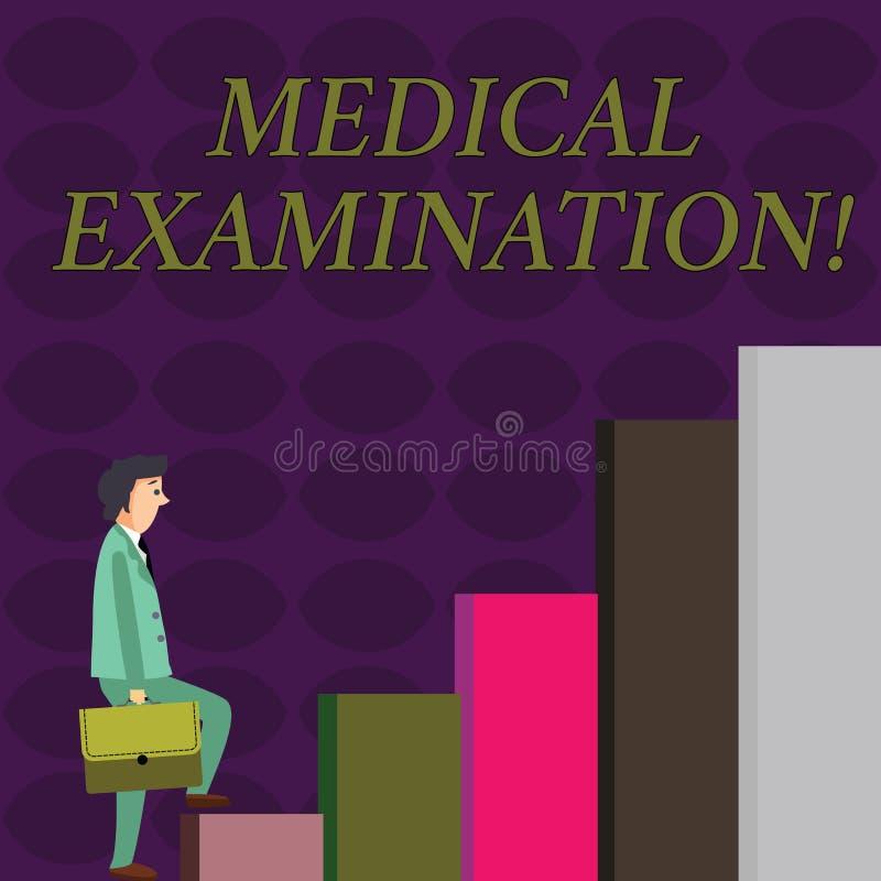 Tekstteken die Algemeen medisch onderzoek tonen Conceptuele die fotocontrole wordt uitgevoerd om de fysieke geschiktheid te bepal vector illustratie