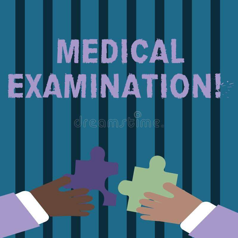 Tekstteken die Algemeen medisch onderzoek tonen Conceptuele die fotocontrole wordt uitgevoerd om de fysieke geschiktheid te bepal royalty-vrije illustratie
