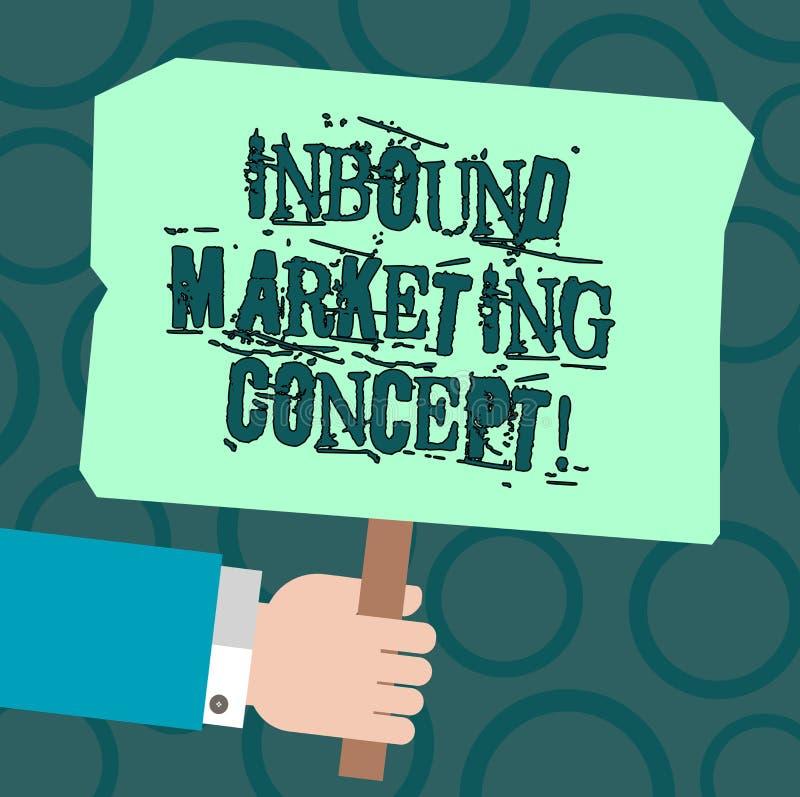 Tekstteken die Binnenkomend Marketing Concept tonen Conceptuele fotostrategie die zich bij het aantrekken van de analyse van klan stock illustratie