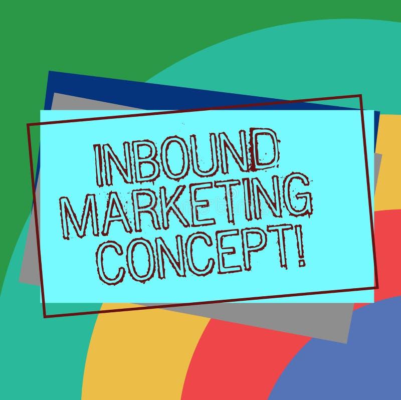 Tekstteken die Binnenkomend Marketing Concept tonen Conceptuele fotostrategie die zich bij het aantrekken van klantenstapel van S vector illustratie