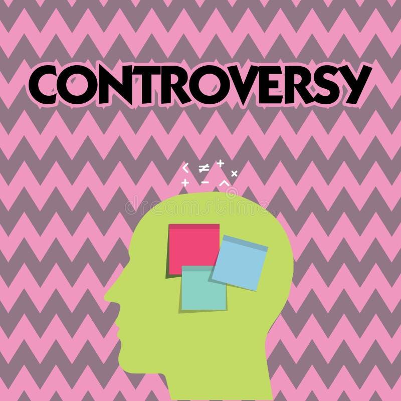 Tekstteken die Controverse tonen Conceptueel fotomeningsverschil of Argument over iets belangrijk voor het tonen royalty-vrije illustratie
