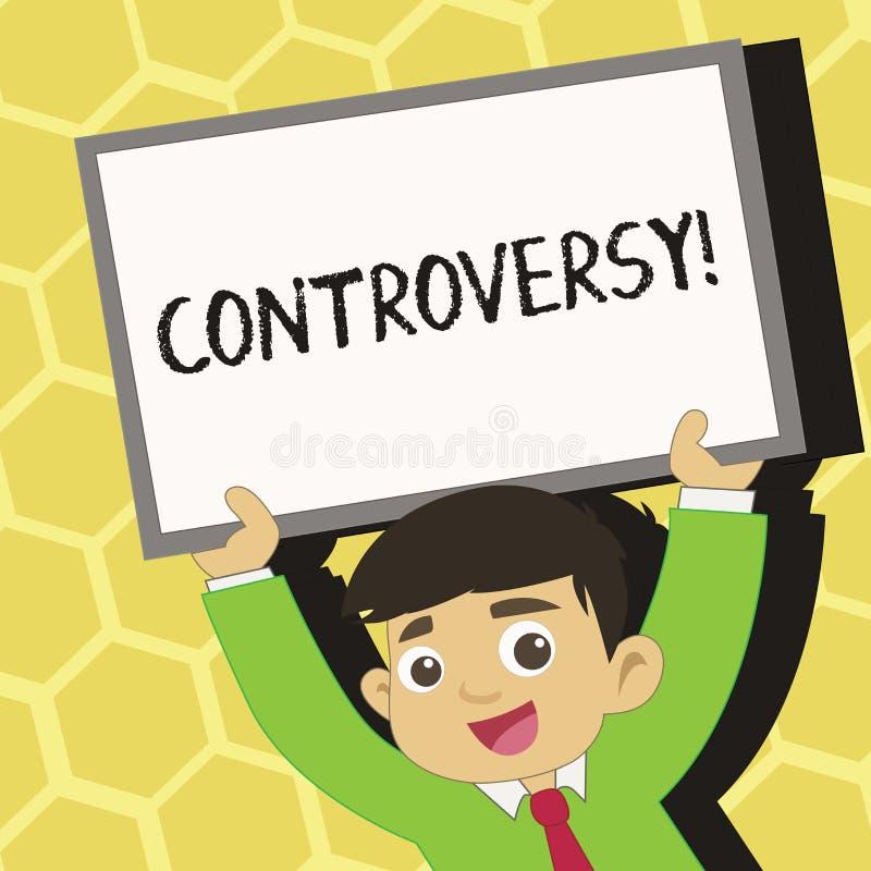 Tekstteken die Controverse tonen Conceptueel fotomeningsverschil of Argument over iets belangrijk voor het tonen van Jongelui stock illustratie