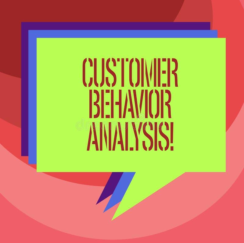 Tekstteken die de Analyse van het Klantengedrag tonen Conceptueel foto het kopen gedrag van consumenten die goederenstapel van To vector illustratie