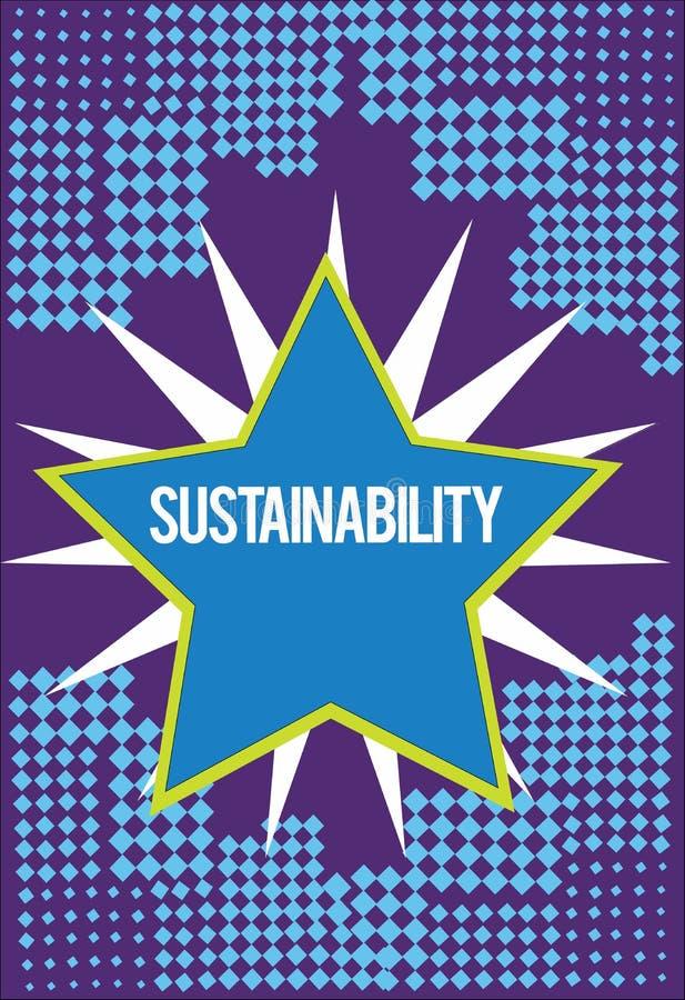 Tekstteken die Duurzaamheid tonen Conceptuele foto de capaciteit dat op een bepaald tarief en een niveau moet worden gehandhaafd vector illustratie