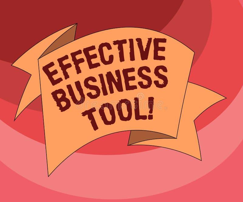 Tekstteken die Efficiënt Zakelijk hulpmiddel tonen De conceptuele die foto wordt gebruikt om bedrijfsprocessen te controleren en  vector illustratie