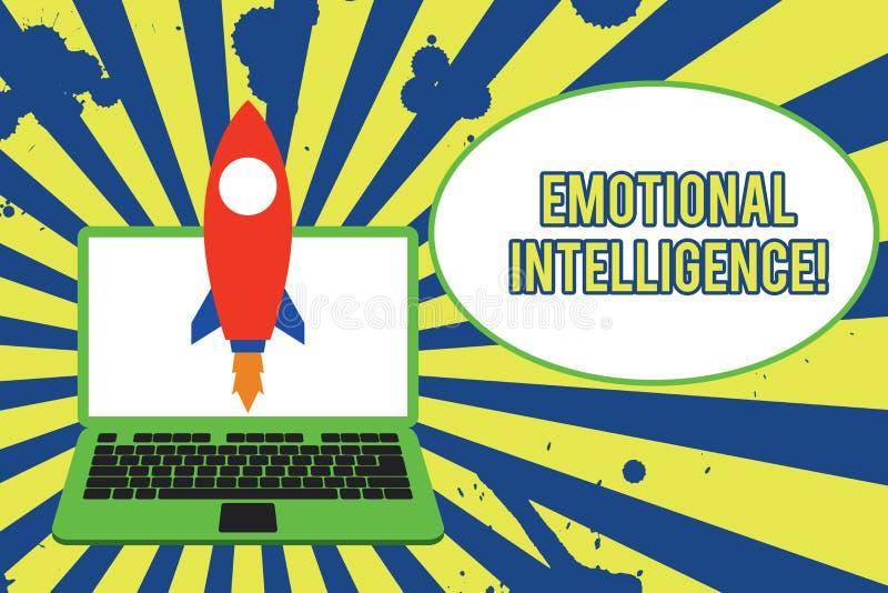 Tekstteken die Emotionele Intelligentie tonen Conceptuele het Handvatverhoudingen die van de foto Zelf en Sociale Voorlichting go stock illustratie
