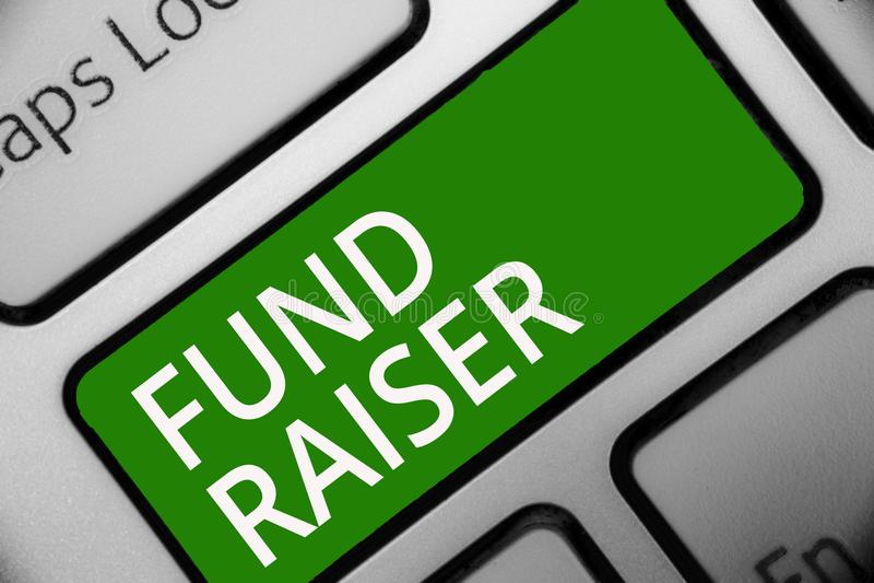 Tekstteken die Fonds tonen - fokker De conceptuele fotopersoon van wie baan of de taak is zoekt financiële steun voor de groene s royalty-vrije illustratie