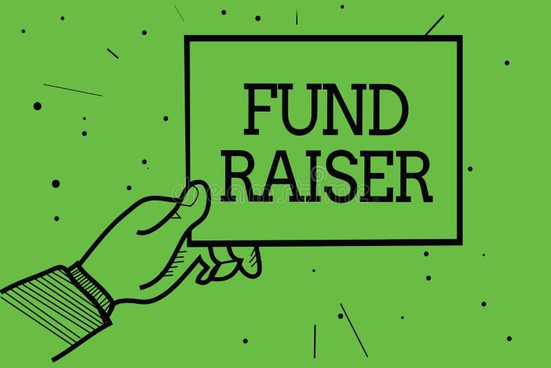 Tekstteken die Fonds tonen - fokker De conceptuele fotopersoon van wie baan of de taak is zoekt financiële steun voor de pa van d vector illustratie