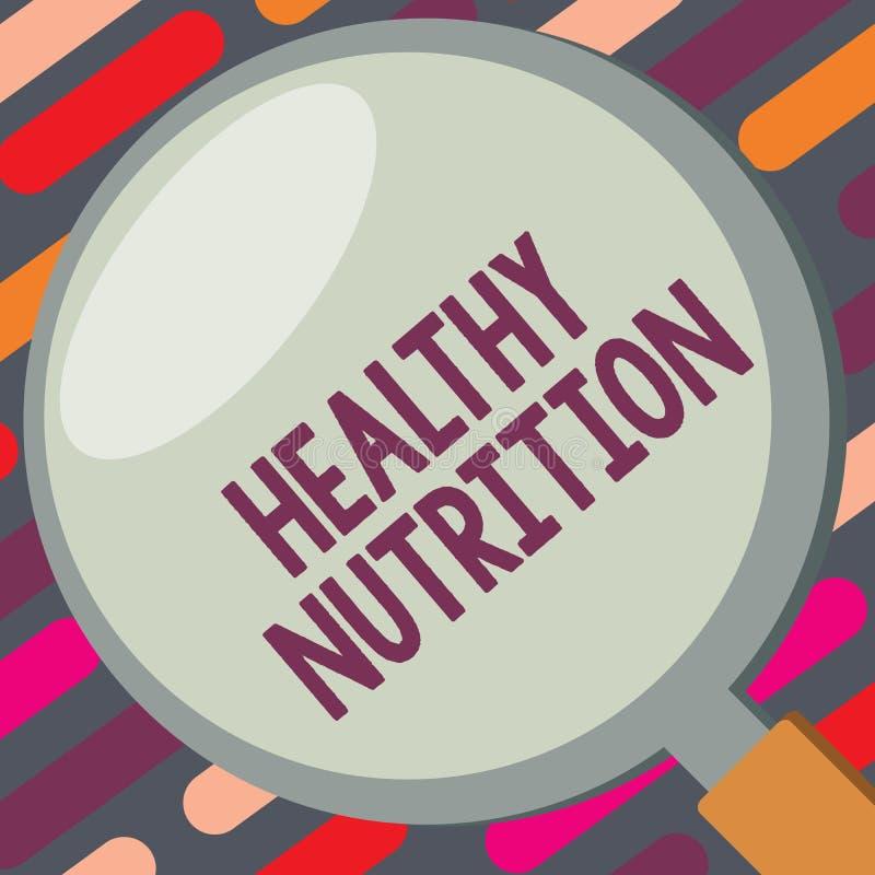 Tekstteken die Gezonde Voeding tonen Conceptuele foto die een gezond en voedingsvoedseluitgebalanceerd dieet eten vector illustratie