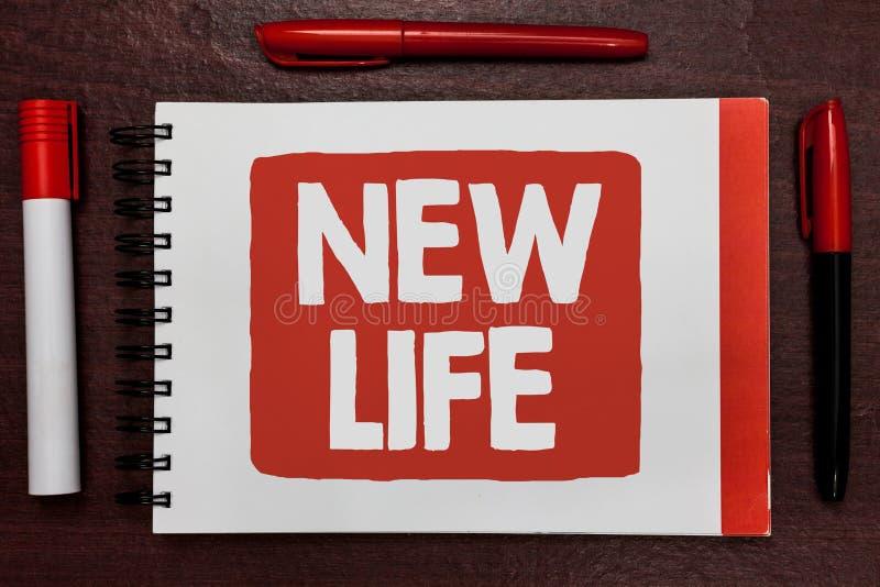 Tekstteken die het Nieuwe Leven tonen Conceptueel fotobegin van verandering het bestaand van individuele of dierlijke Belangrijke stock afbeeldingen