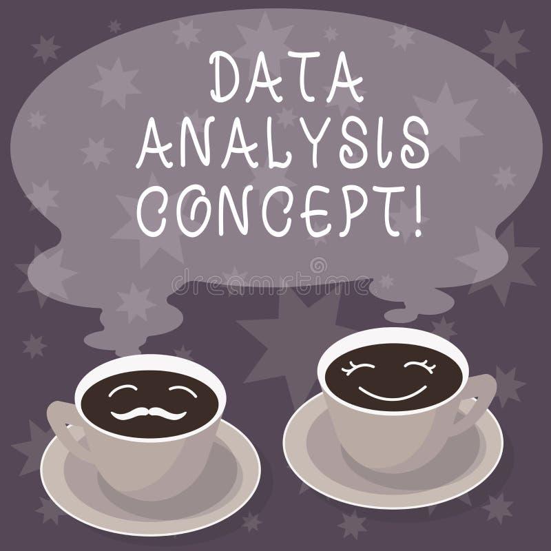 Tekstteken die het Proces van de Gegevensanalyse tonen Conceptuele foto de procedures of de technieken in het analyseren van de g vector illustratie
