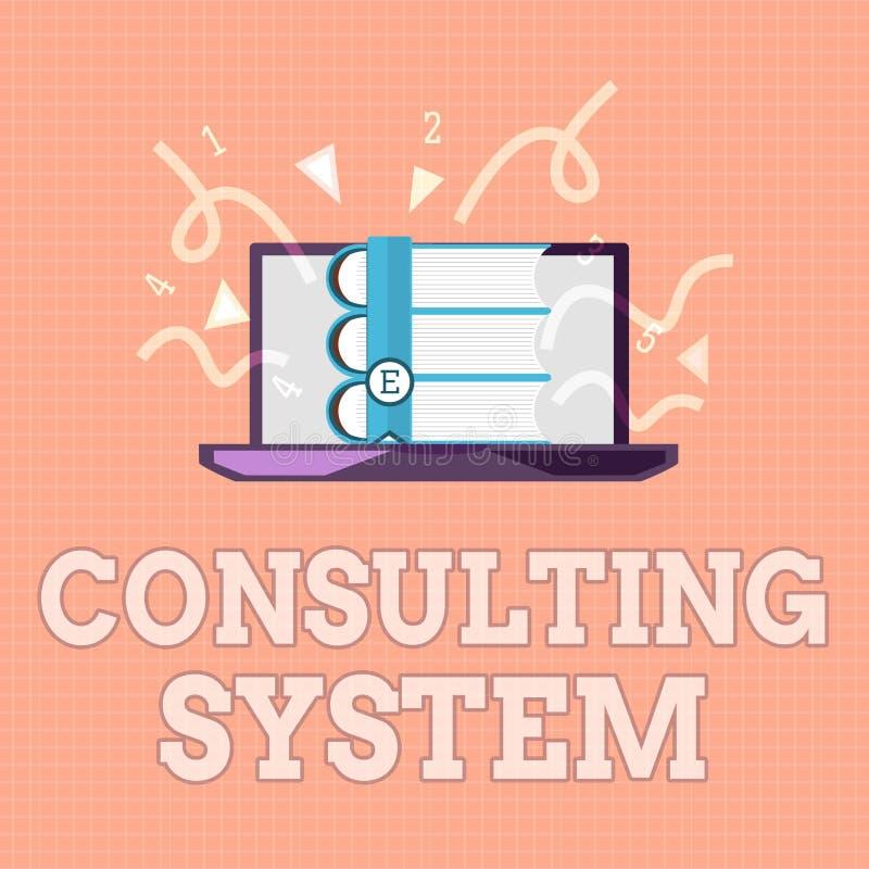 Tekstteken die het Raadplegen Systeem tonen Conceptuele foto die firma's helpen procesgeschiktheid en functionaliteit verbeteren vector illustratie