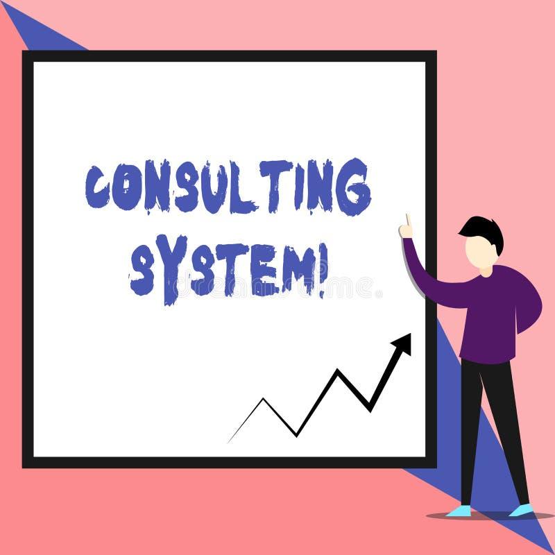 Tekstteken die het Raadplegen Systeem tonen Conceptuele foto die firma's helpen van de procesgeschiktheid en functionaliteit Weer royalty-vrije illustratie